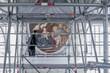 canvas print picture - Gerüst für Restauration, Gemälde, Stuck