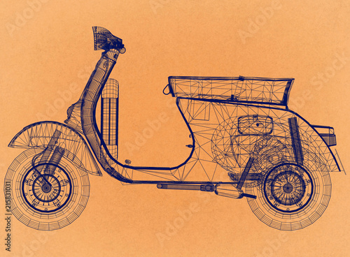 scooter-retro-architect-blueprint