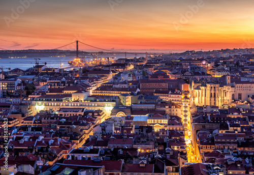 Fototapeta Lisbon capital of Portugal obraz na płótnie