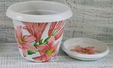 Beautiful Decorative Pot For Indoor Flowers, Handmade Decoupage