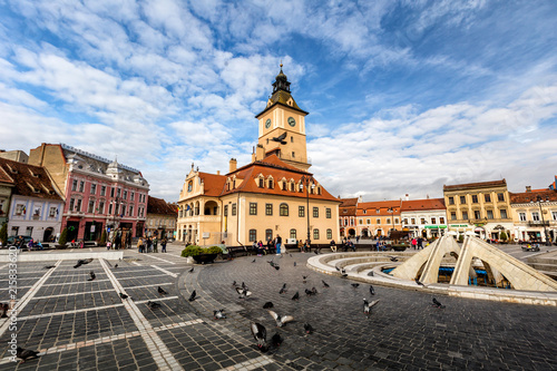 Fotobehang Grijs Brasov wonderful city in transilvania , Romania