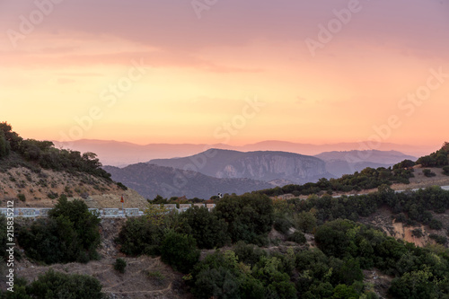 Staande foto Zwart Meteora , great landscape og greece