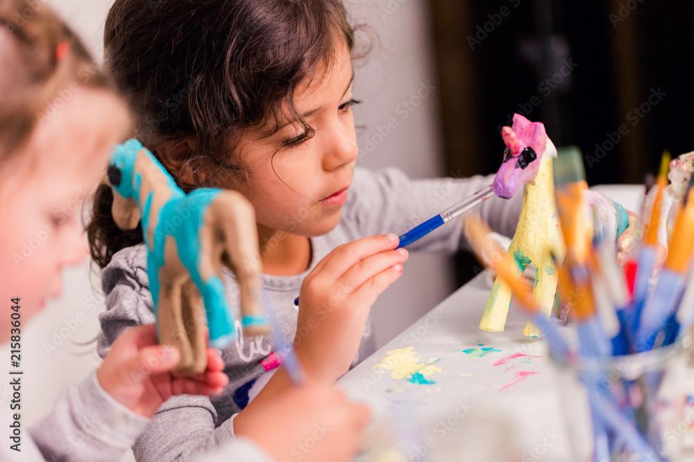 Fototapety, obrazy: Kids unicorn craft
