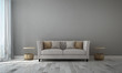 Leinwanddruck Bild - Modern luxury living room interior design and grey texture wall pattern background