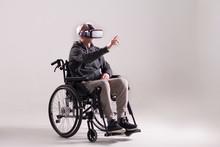 Old Man Wearing Virtual Realit...