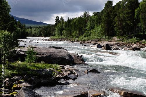 Fotografie, Obraz  Fluss Luonosjahka