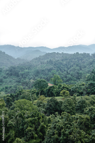 Poster Wit Landscape mountain view, the Mountains National Park in North of thailand.