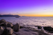 canvas print picture - View of the sunrise over False Bay from Boulders Beach, Simons Town, Cape Town, South Africa