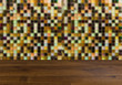 Natural flooring. Design background Mosaic for the bathroom. Textures,