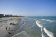 Sand beach at ocean