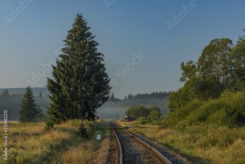 Railway track near Dobra na Sumave station