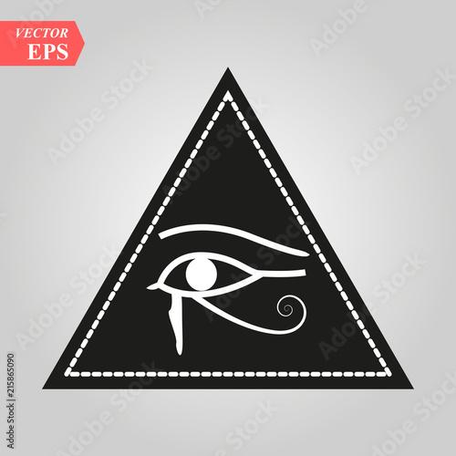 All Seeing Eye Magical Element Eye Triangle Tattoo Design Vector