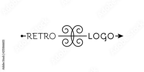 Retro logo Wallpaper Mural