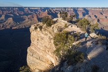 Sunset From The South Rim Of The Grand Canyon At Shoshone Point, Arizona