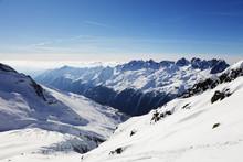 Argentiere Glacier And Aiguilles Rouges, Chamonix, Haute Savoie, Rhone Alpes, French Alps, France