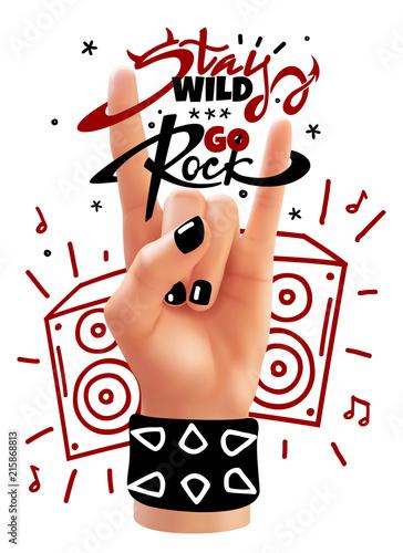 rock hand poster © adamova
