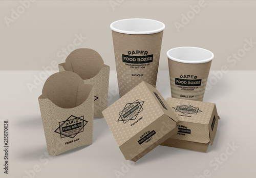 Fast Food Packaging Mockup. Buy this stock template and explore ...