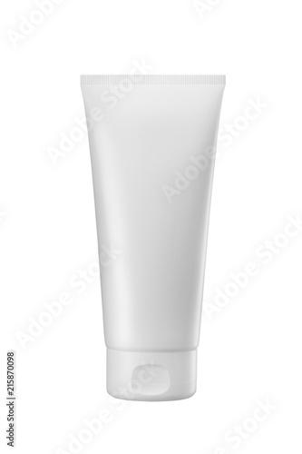 Fotografie, Obraz  white plastic tube for medicine or cosmetics cream, gel, skin care, toothpaste