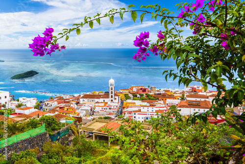 Tuinposter Canarische Eilanden View of Garachico town of Tenerife, Canary Islands, Spain