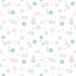 Glitter confetti polka dot seamless pattern background. Pink and pastel blue trendy colors. For birthday, valentine and scrapbook design.