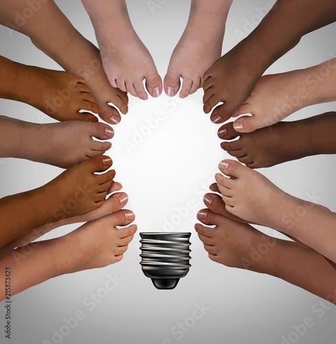 Fototapety, obrazy: Diversity Standing Together