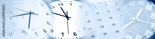 Clocks and calendars Fototapete