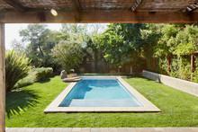 Small Pool In Backyard Of Home In California