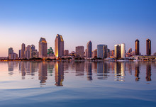 San Diego Skyline At Sunset Fr...