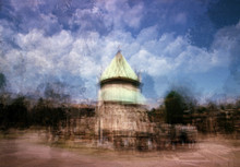 Multiple Exposure On Color Film - Commemorative Monument In The Monumental Cemetery Of Torino (Turin), Piedmont, Italy.