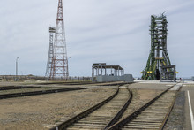 The Soyuz Launch Pad At The Cosmodrome