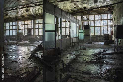 Foto op Aluminium Oude verlaten gebouwen Former Jupiter factory in Pripyat