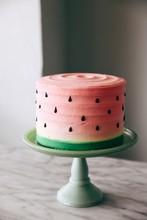 Watermelon Theme Cake On Cakestand
