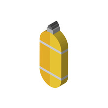 Oxygen Tank Isometric Right Top View 3D Icon