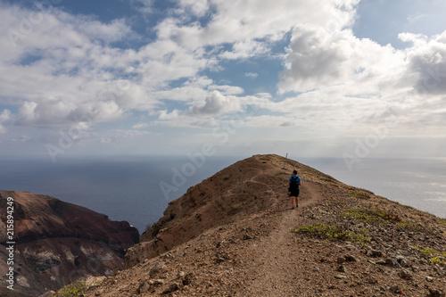 Poster Donkergrijs Ascension Island