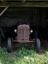 Front Grill Of Vintage Tractor...