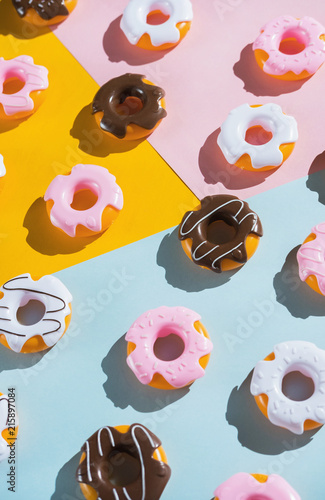 Colorful donuts.