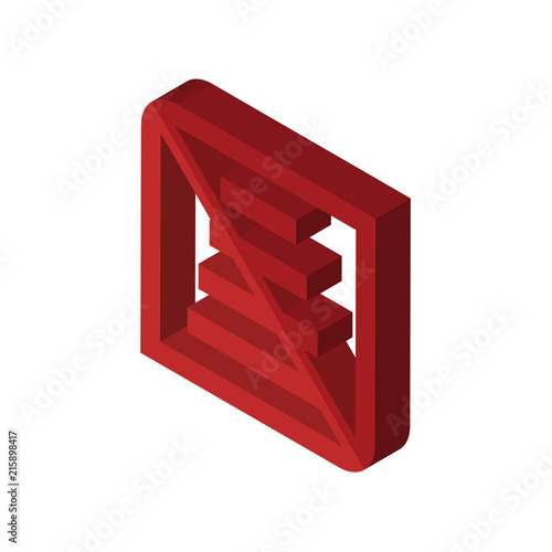 Do Not Use Staircase Isometric Right Top View 3d Icon Buy This