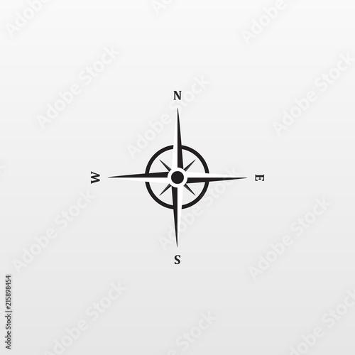 Fotografía  Compas icon isolated on background