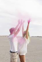 Having Fun With Fuchsia Colored Powder