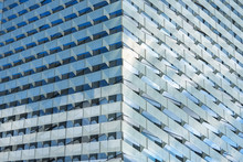 Seamless Office Building Made Of Glass.