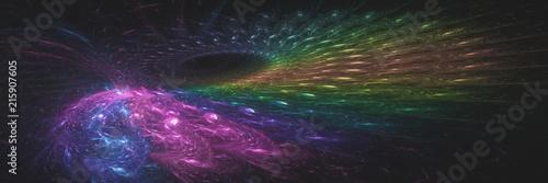 Montage in der Fensternische Spirale Abstarct fractal rainbow ring background banner. Computer generated graphic