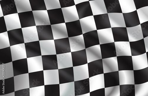 Fotografie, Obraz  Vector background of checkered flag pattern