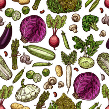 Vegetables Vector Seamless Pat...