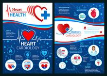 Vector Brochure Of Cardiology Heart Medicine