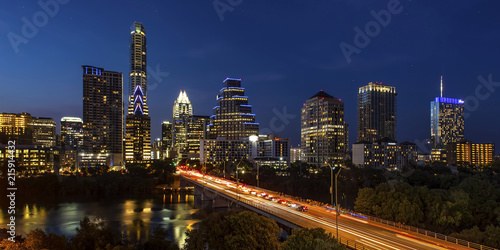 Austin City, Texas - Skyline at Twilight Canvas Print