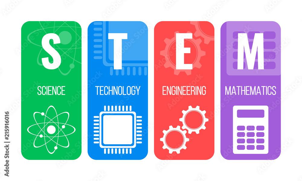 Fototapeta STEM - science, technology, engineering, mathematics. Education concept