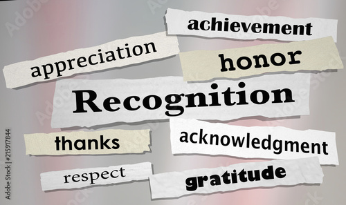Recognition Achievement Appreciation Honor Headlines 3d Illustration Canvas Print