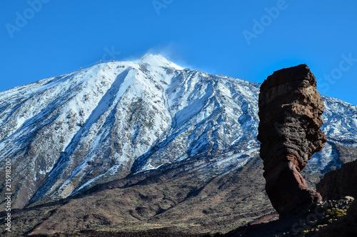 Spoed Foto op Canvas Canarische Eilanden Desert Landscape in Volcan Teide National Park
