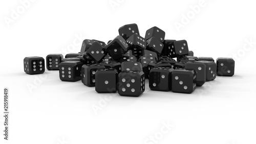 Fototapety czarne - bardzo ciemne czarne-kostki-do-gry