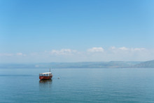 Old Boat On Sea Of Galilee In ...